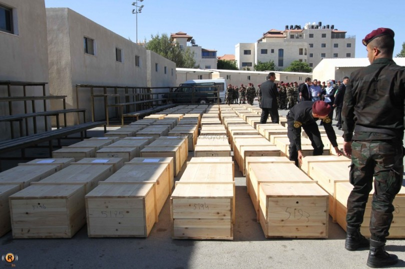 جثامين الشهداء الفلسطينين عدسة:عرين ريناوي ... نقلا عن شبكة راية الاعلامية