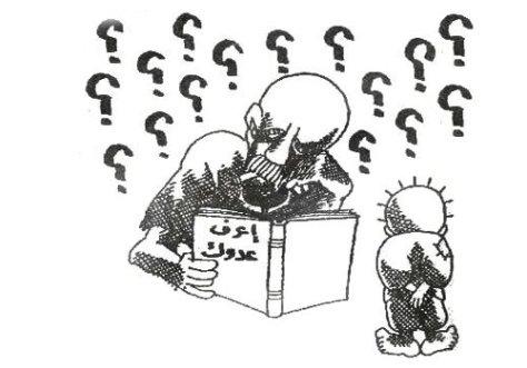 أعرف عدوك ... لوحة كاريكاتير للشهيد الفنان ناجي العلي